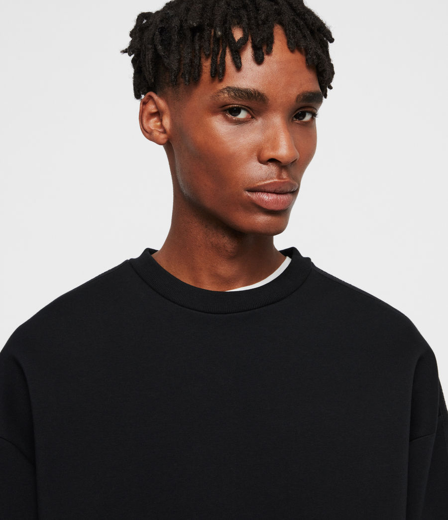 Men's Hayford Crew Sweatshirt (black) - Image 3