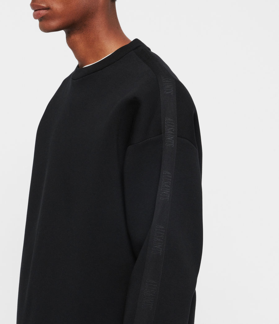 Men's Hayford Crew Sweatshirt (black) - Image 4