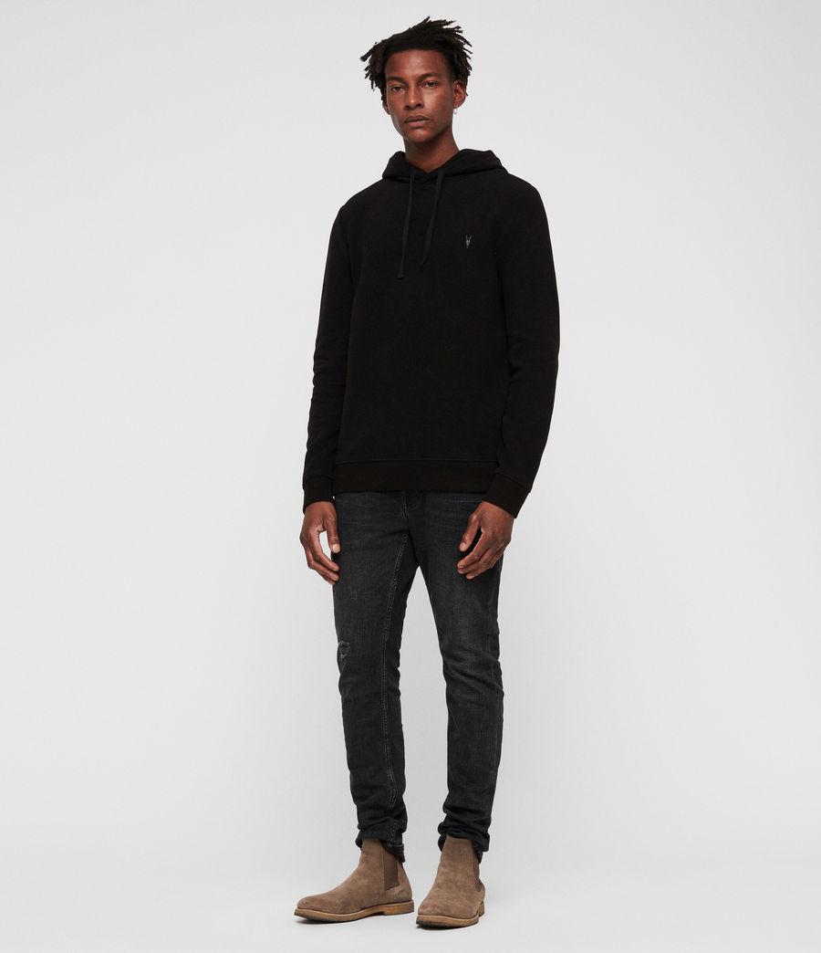 Men's Theo Pullover Hoodie (black) - Image 3