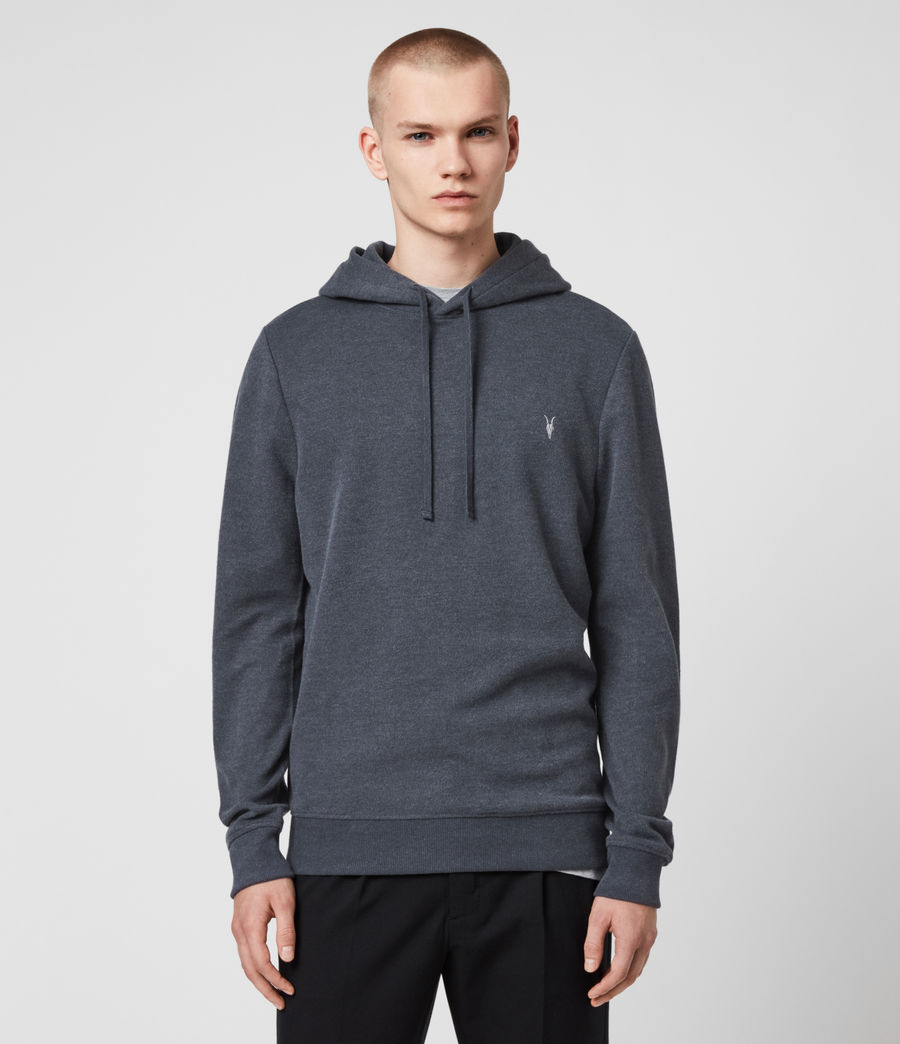 Hombres Sudadera con Capucha Theo (petroleum_navy_mrl) - Image 1