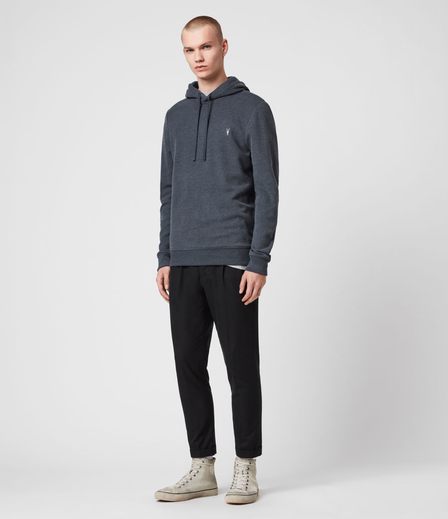 Hombres Sudadera con Capucha Theo (petroleum_navy_mrl) - Image 3