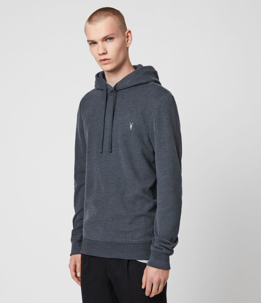 Hombres Sudadera con Capucha Theo (petroleum_navy_mrl) - Image 4