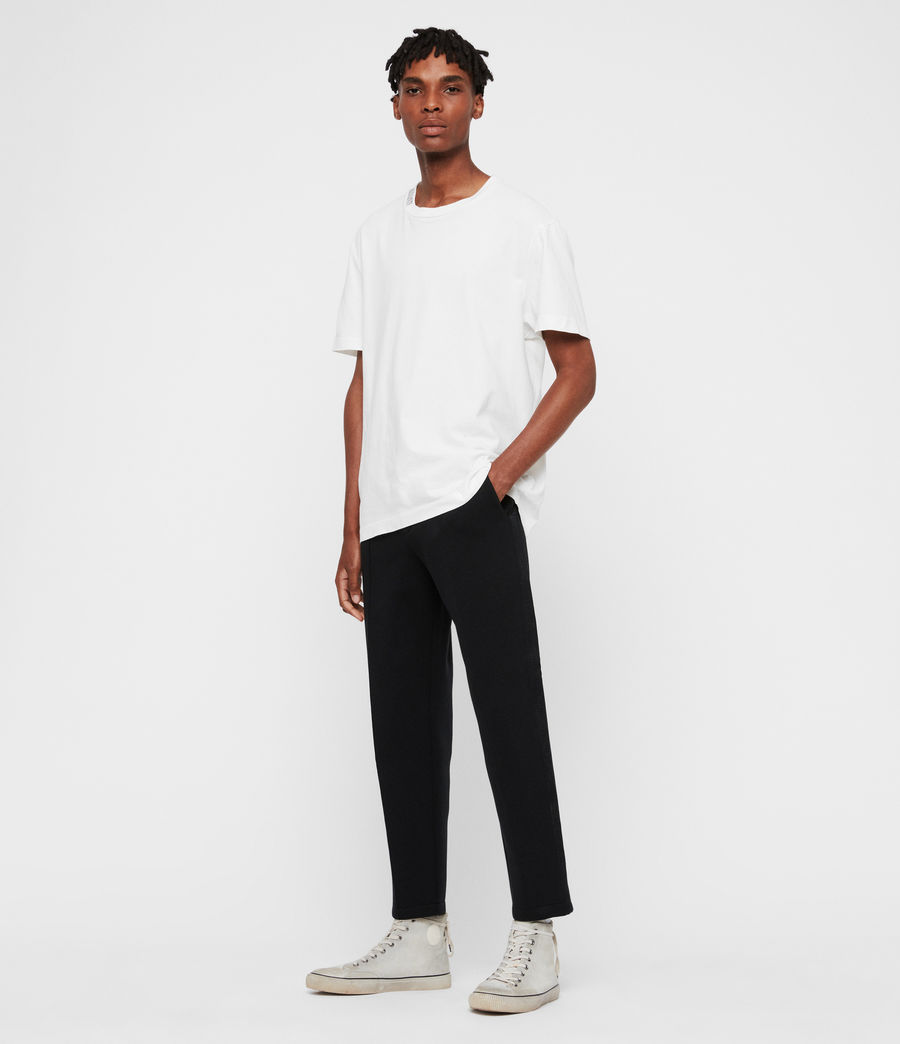 Mens Hayford Cropped Tapered Sweatpants (black) - Image 3
