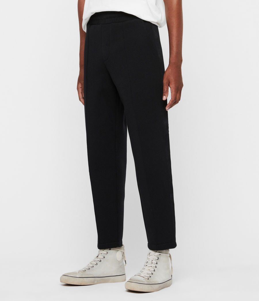 Men's Hayford Cropped Tapered Sweatpants (black) - Image 4