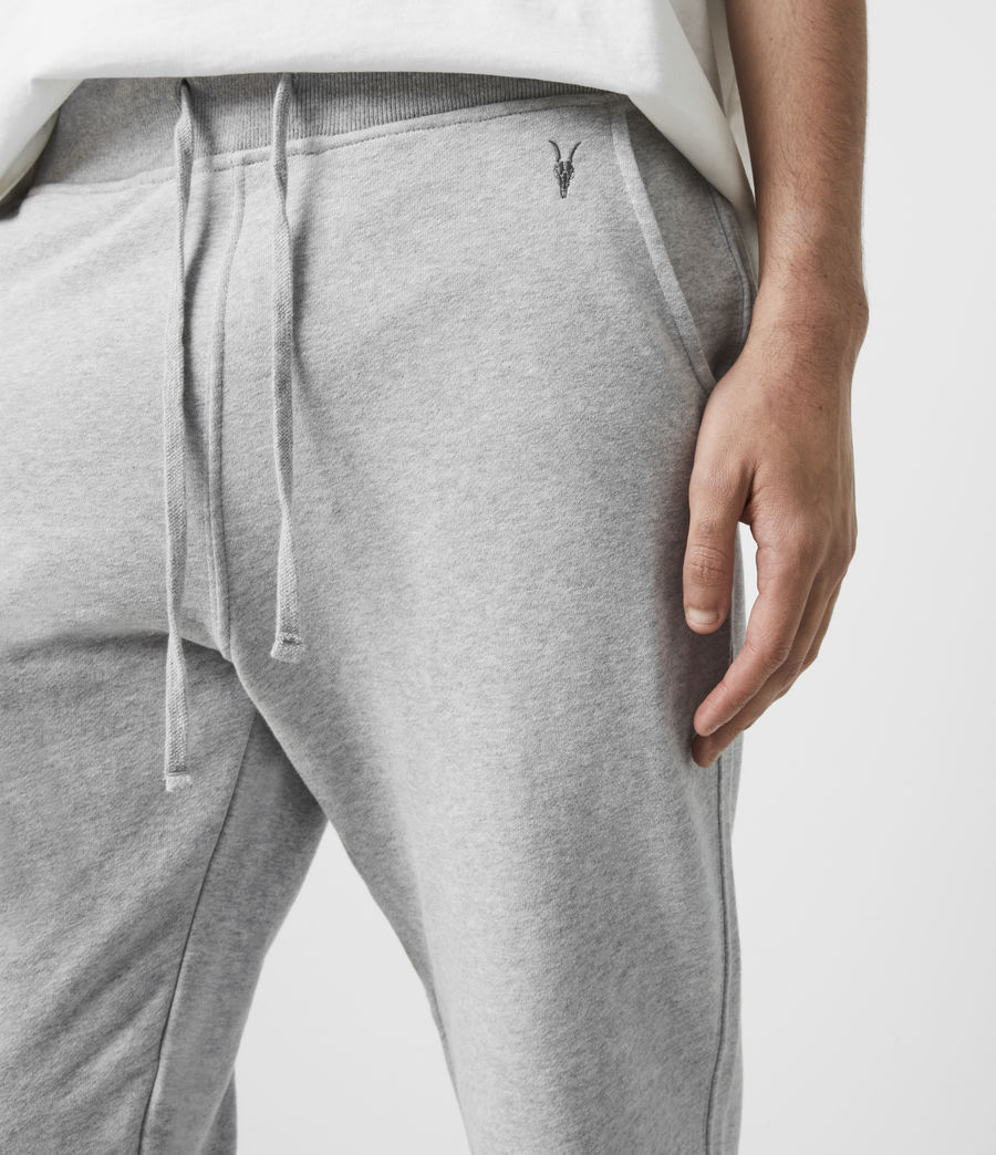 Mens Raven Cuffed Slim Sweatpants (grey_marl) - Image 2