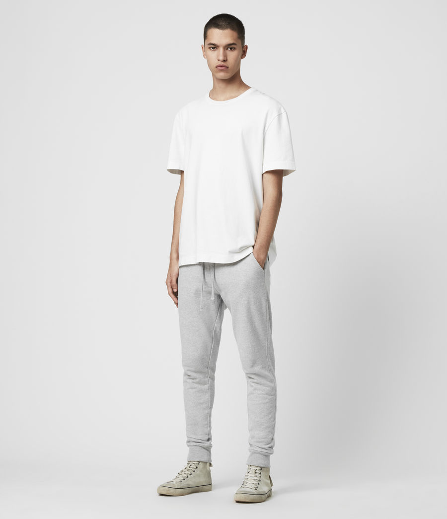 Mens Raven Cuffed Slim Sweatpants (grey_marl) - Image 3