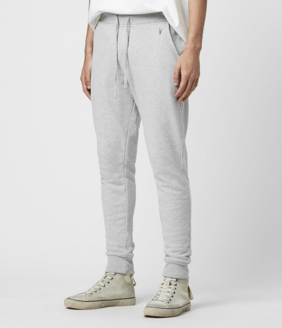 Mens Raven Cuffed Slim Sweatpants (grey_marl) - Image 4