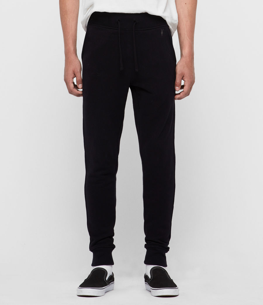 Mens Raven Cuffed Slim Sweatpants (black) - Image 1