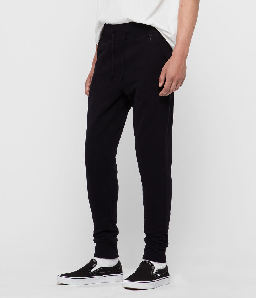 Mens Raven Cuffed Slim Sweatpants (black) - Image 2