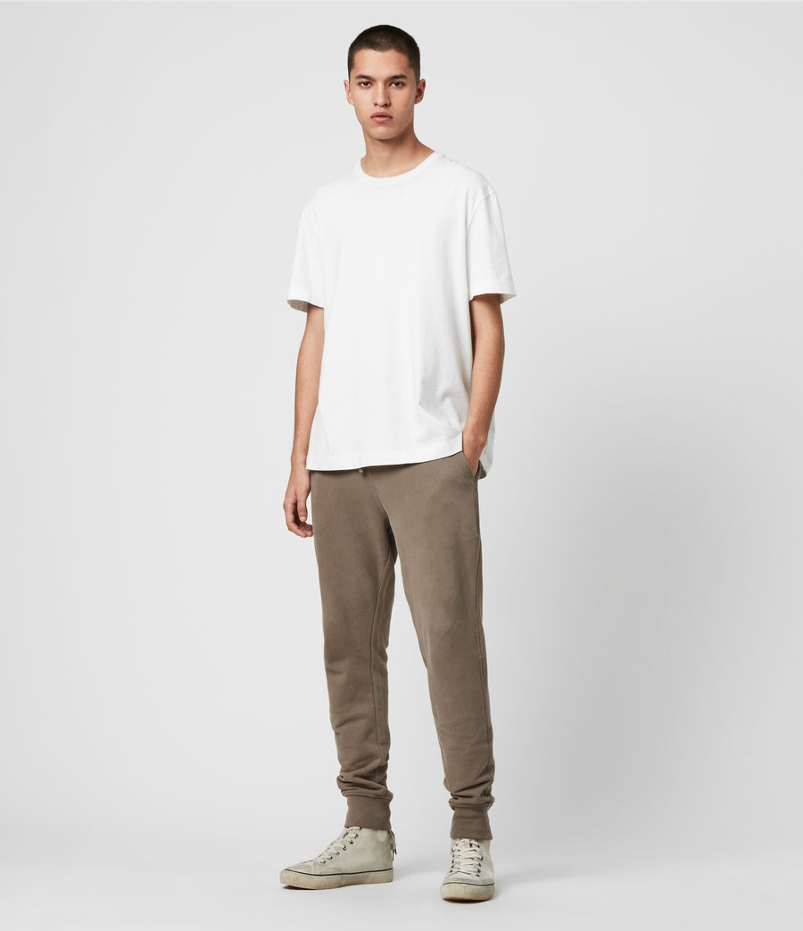 Men's Raven Cuffed Slim Sweatpants (taupe_marl) - Image 3