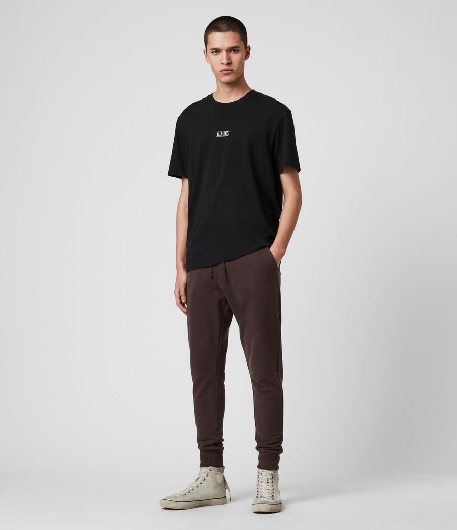 Mens Raven Cuffed Slim Sweatpants (black) - Image 3