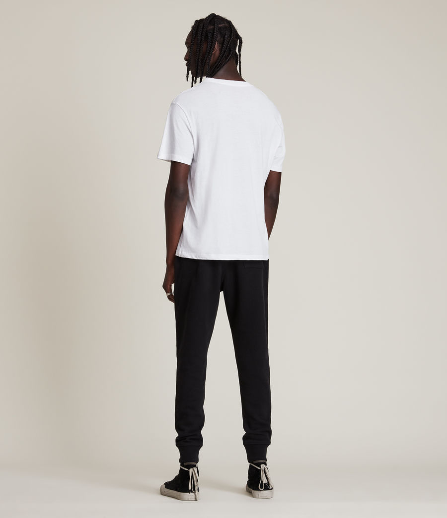 Men's Raven Cuffed Slim Sweatpants (black) - Image 3