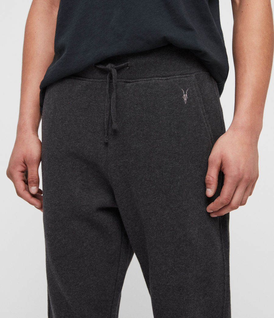 Mens Raven Cuffed Slim Sweatpants (charcoal_marl) - Image 2
