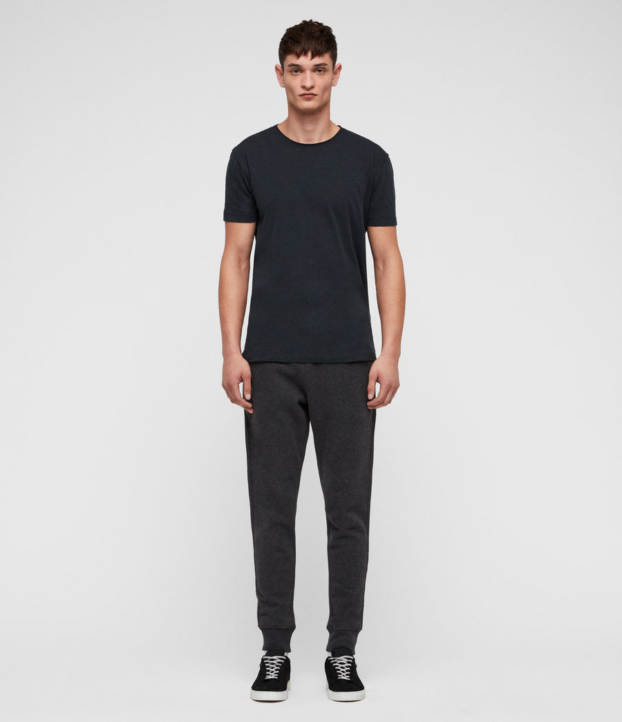 Mens Raven Cuffed Slim Sweatpants (charcoal_marl) - Image 4