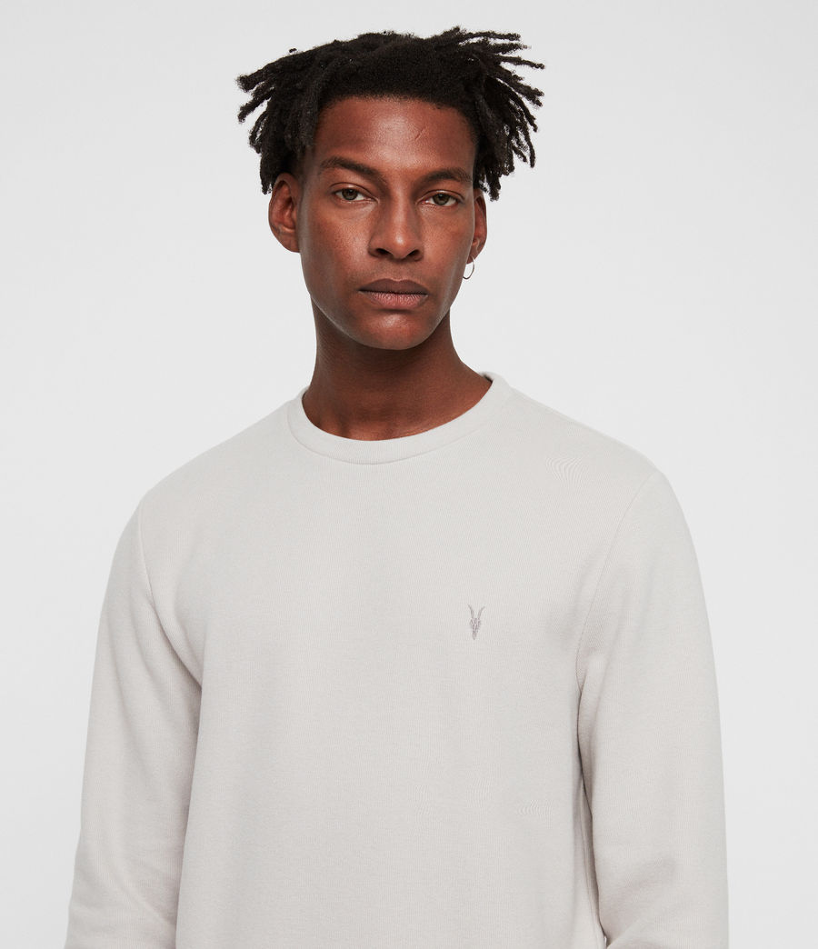 Mens Theo Crew Sweatshirt (lunar_grey) - Image 2