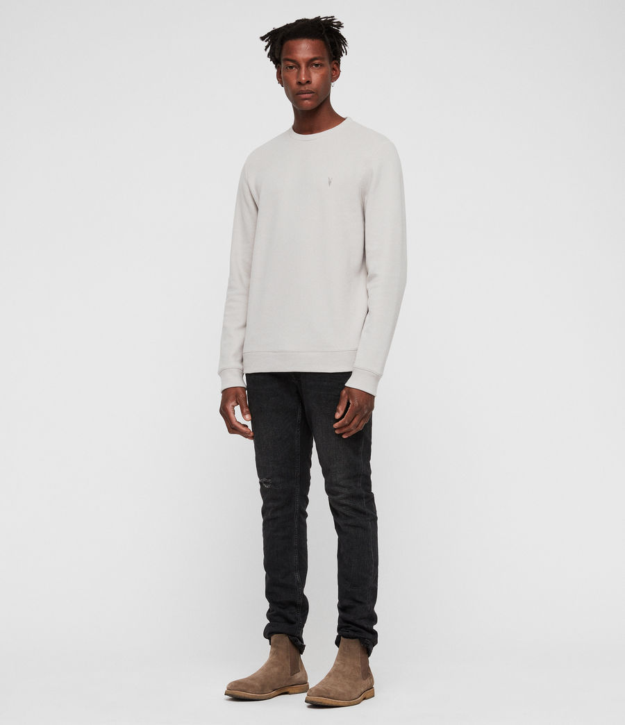 Mens Theo Crew Sweatshirt (lunar_grey) - Image 3