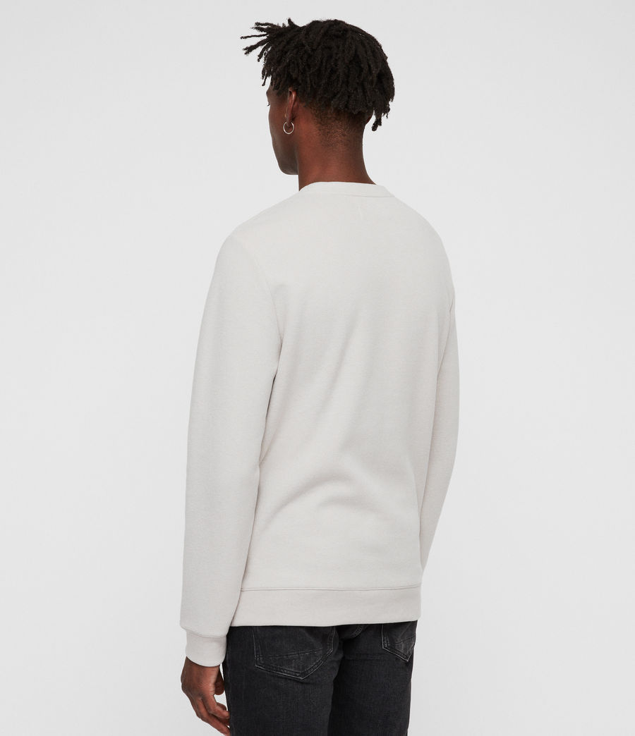 Mens Theo Crew Sweatshirt (lunar_grey) - Image 4