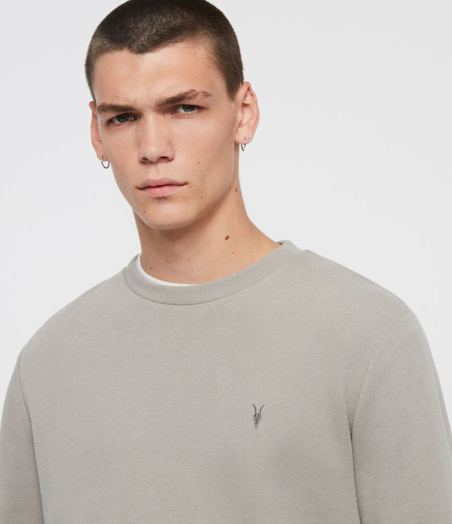 Men's Theo Crew Sweatshirt (cement_grey) - Image 2