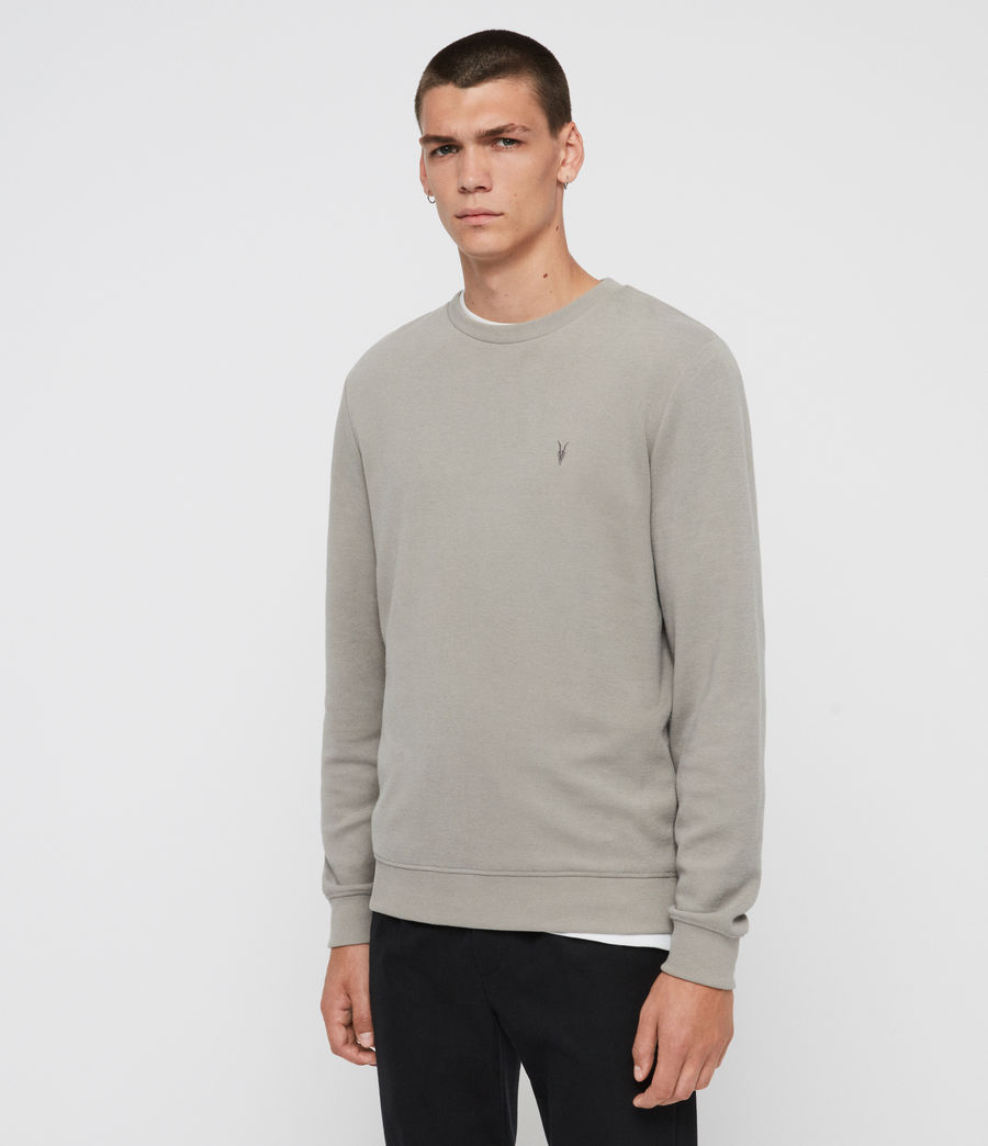 Men's Theo Crew Sweatshirt (cement_grey) - Image 3