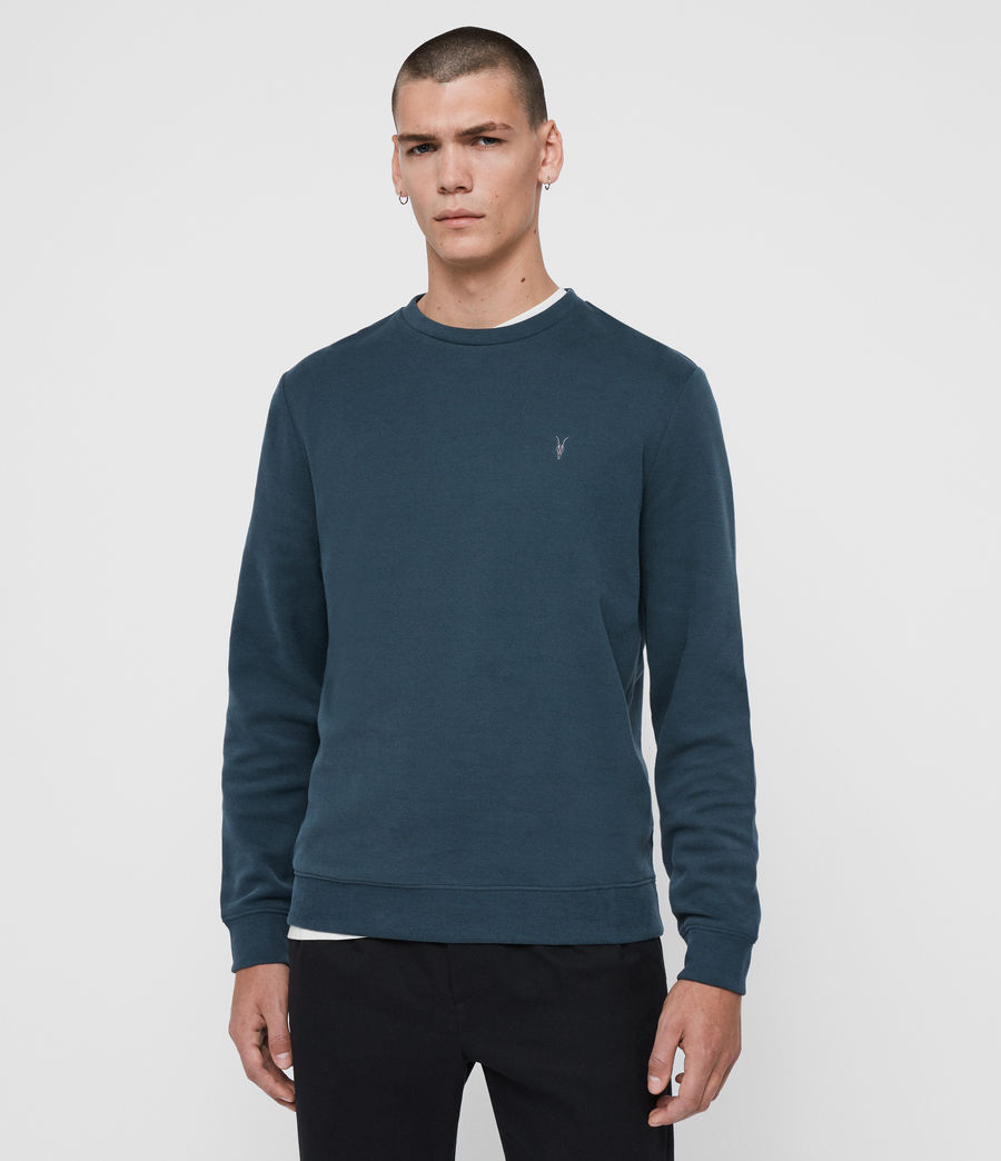 Hombres Sudadera Theo (teal_blue) - Image 1