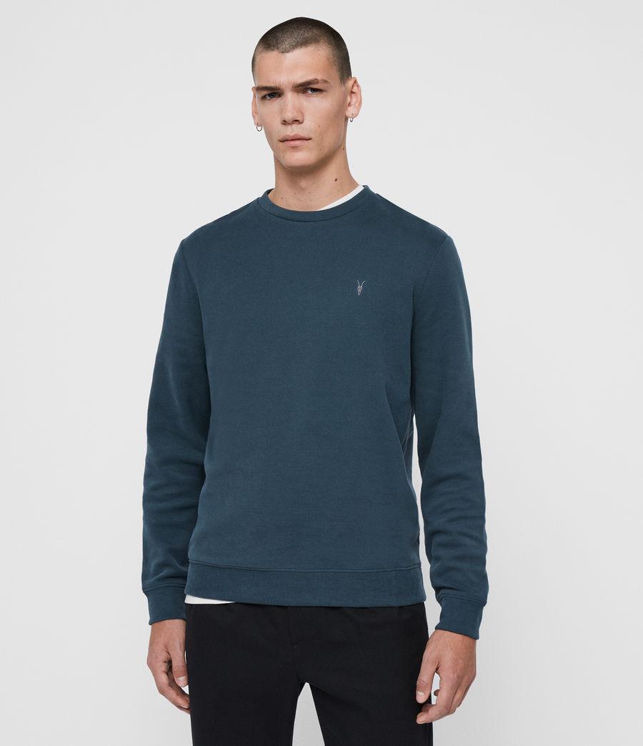 Mens Theo Crew Sweatshirt (jet_black) - Image 1
