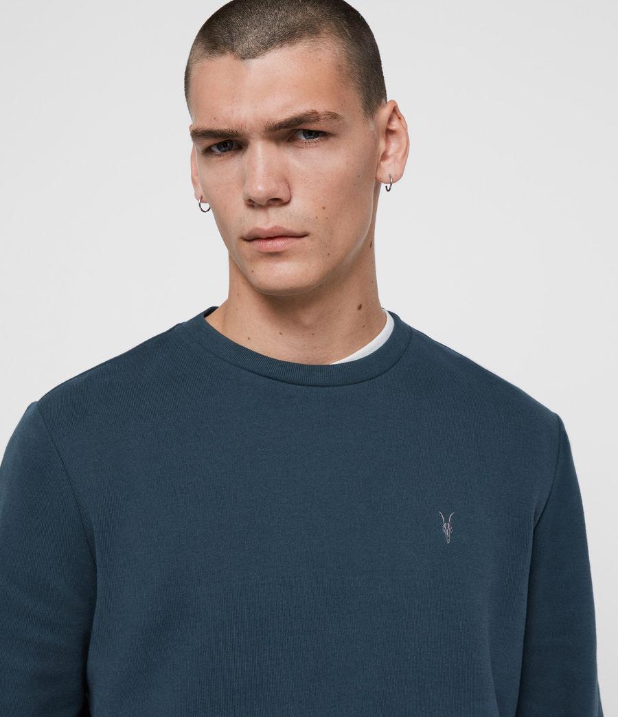 Mens Theo Crew Sweatshirt (jet_black) - Image 2
