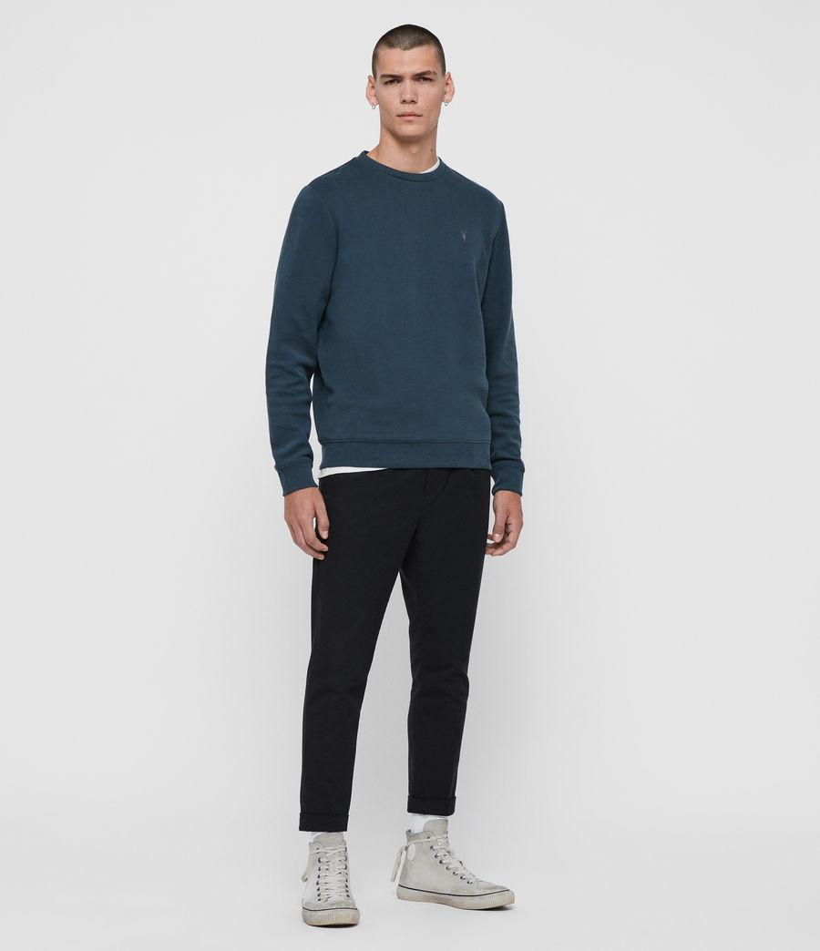 Mens Theo Crew Sweatshirt (jet_black) - Image 3