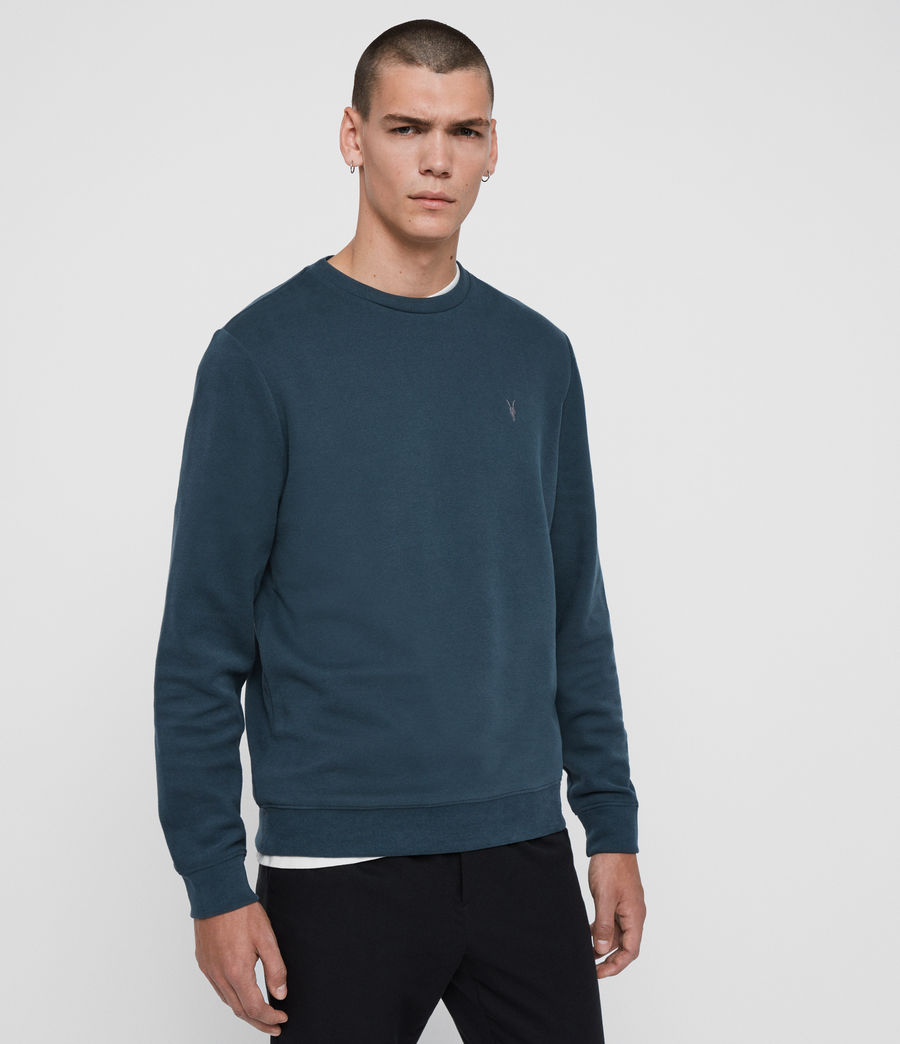 Hombres Sudadera Theo (teal_blue) - Image 4