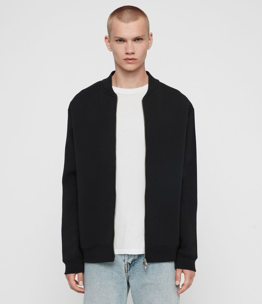 Men's Hayford Sweat Bomber Jacket (black) - Image 1
