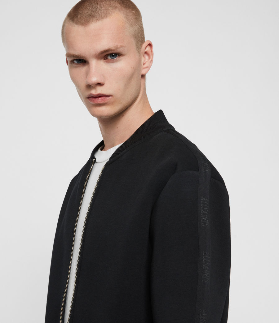 Men's Hayford Sweat Bomber Jacket (black) - Image 2