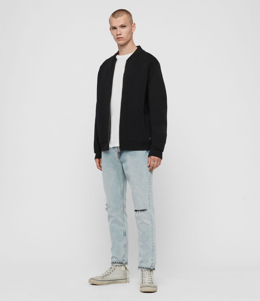 Men's Hayford Sweat Bomber Jacket (black) - Image 3