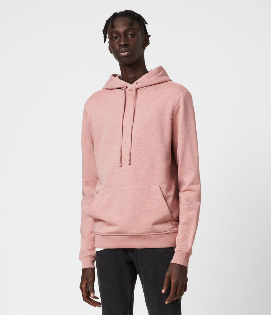 Hombres Dyer Pullover Hoodie (pink_marl) - Image 1