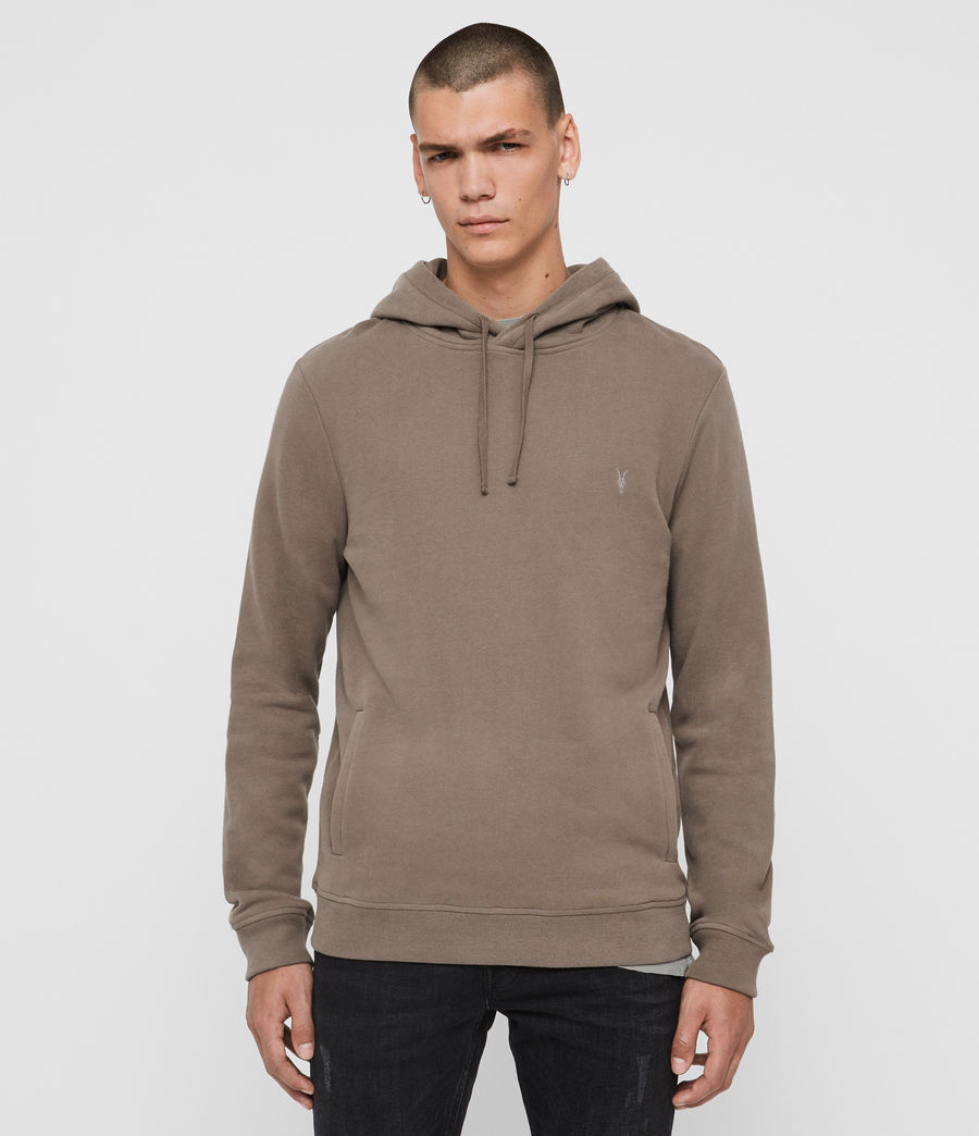 Mens Raven Pullover Hoodie (taupe_marl) - Image 1