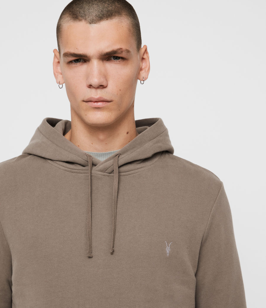 Mens Raven Pullover Hoodie (taupe_marl) - Image 2