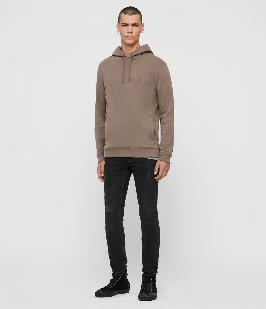Mens Raven Pullover Hoodie (taupe_marl) - Image 3