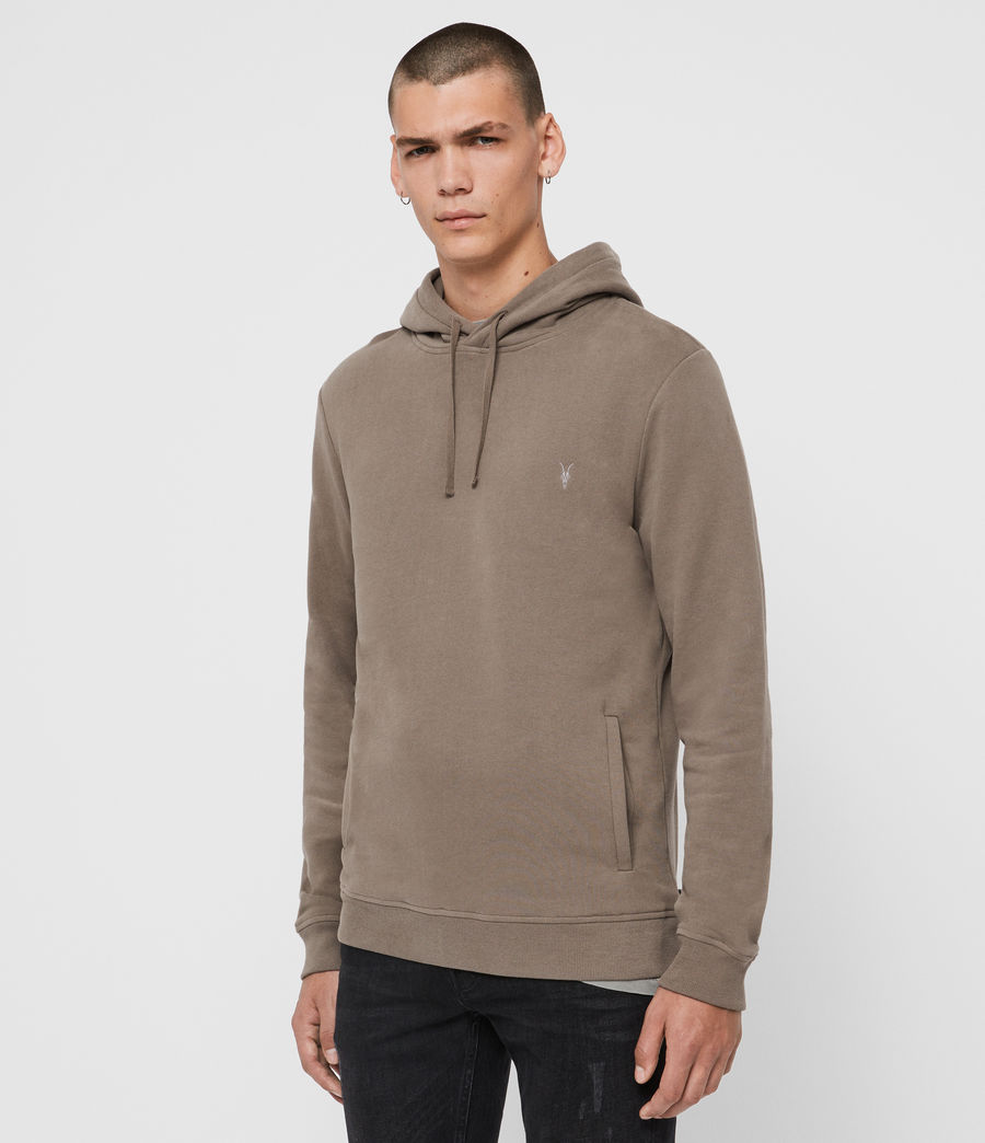 Mens Raven Pullover Hoodie (taupe_marl) - Image 4