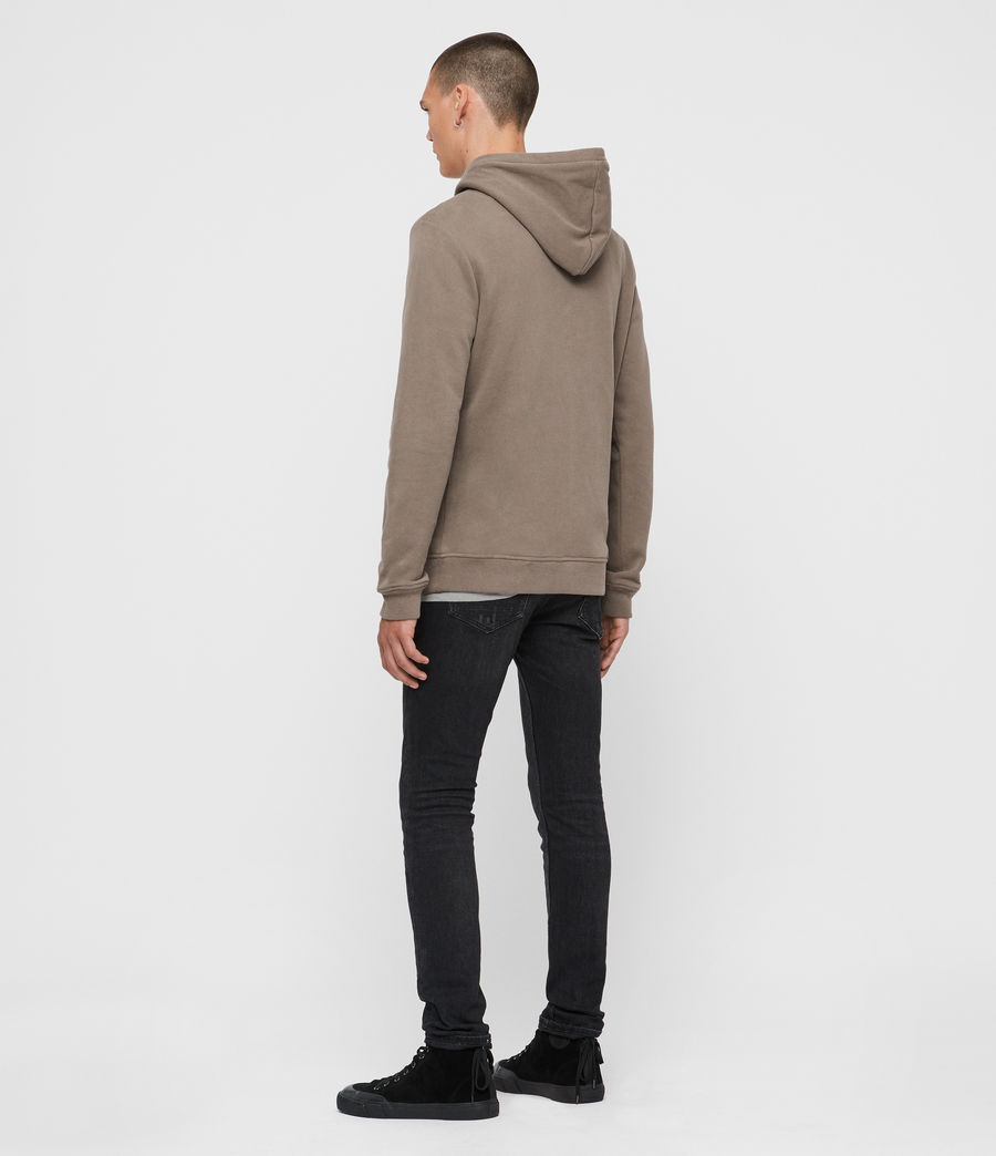 Mens Raven Pullover Hoodie (taupe_marl) - Image 5