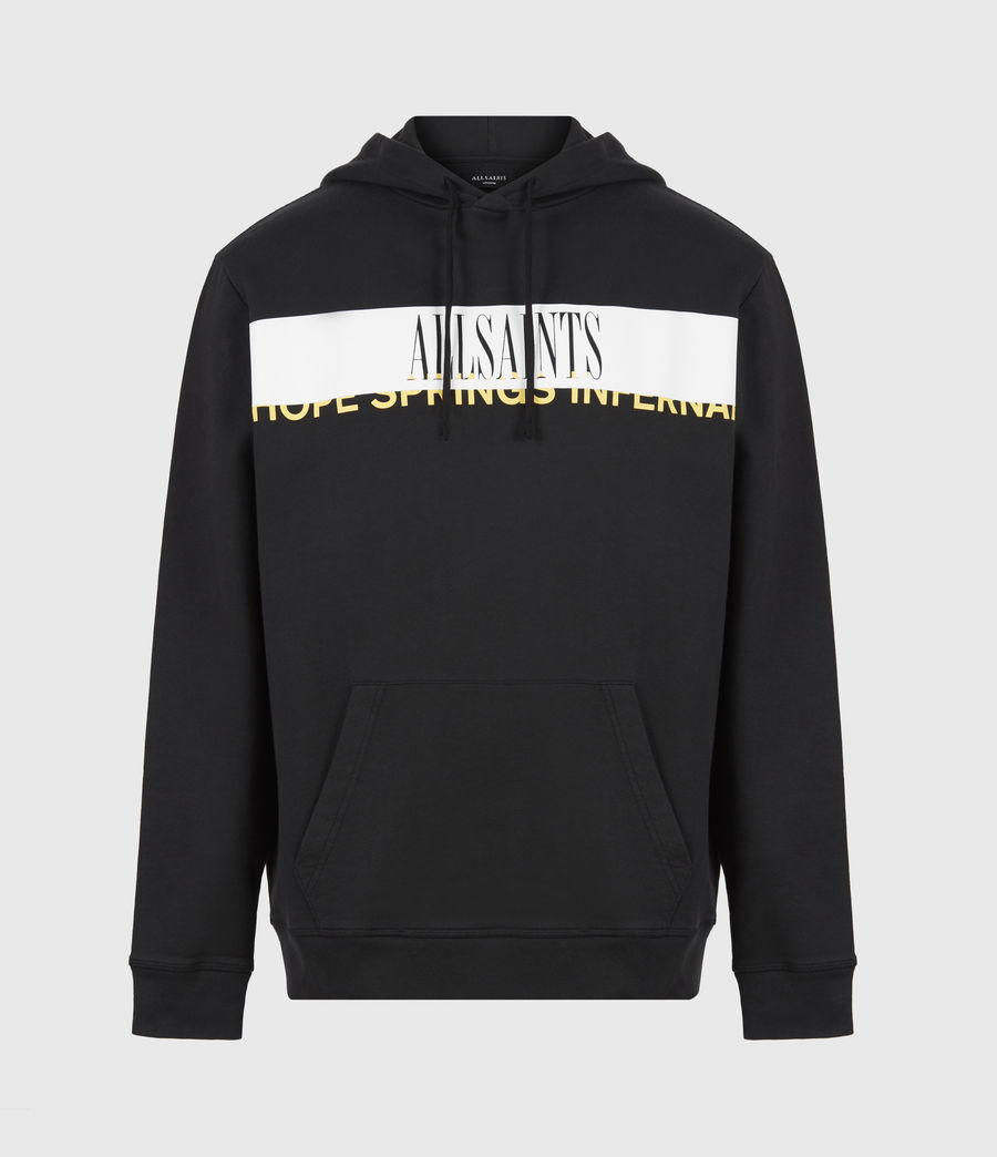 Hommes Feica Pullover Hoodie (black_white_yellow) - Image 2
