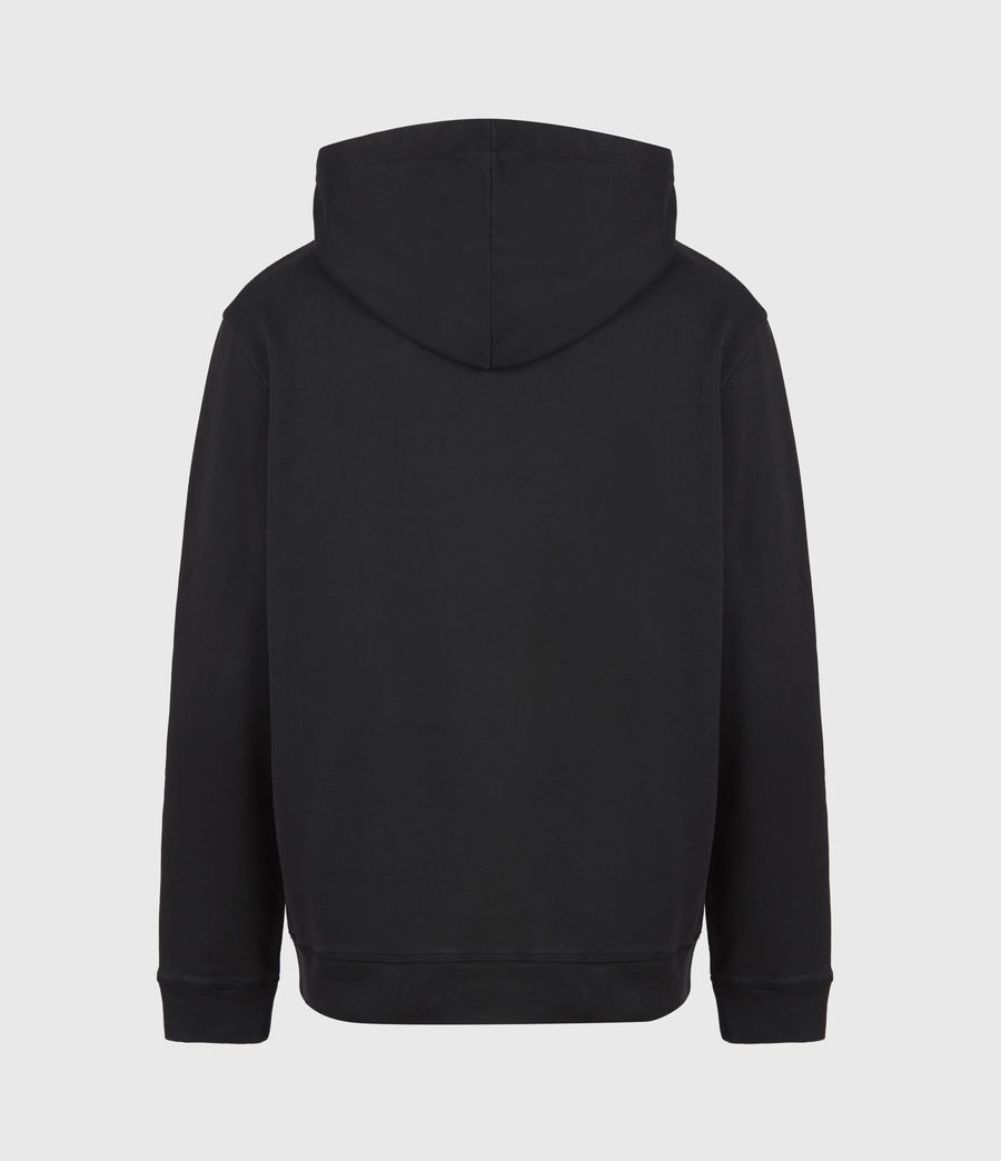 Hommes Feica Pullover Hoodie (black_white_yellow) - Image 3