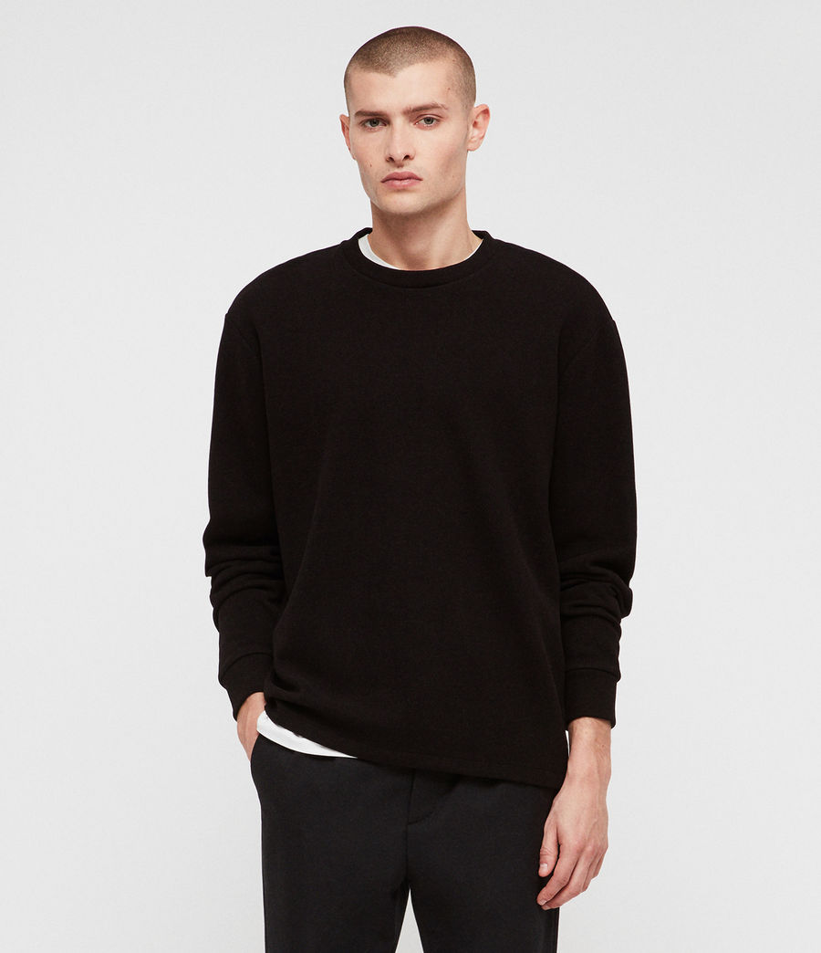 Mens Newis Crew Sweatshirt (black) - Image 1