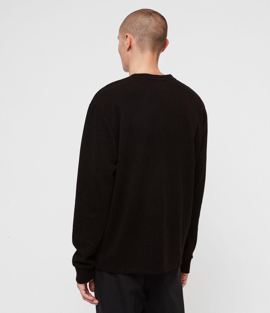 Herren Newis Crew Sweatshirt (black) - Image 4