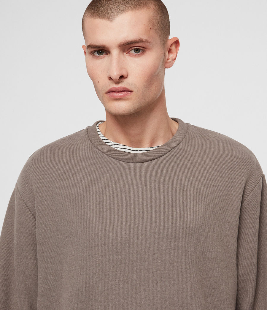 Mens Newis Crew Sweatshirt (core_grey) - Image 2