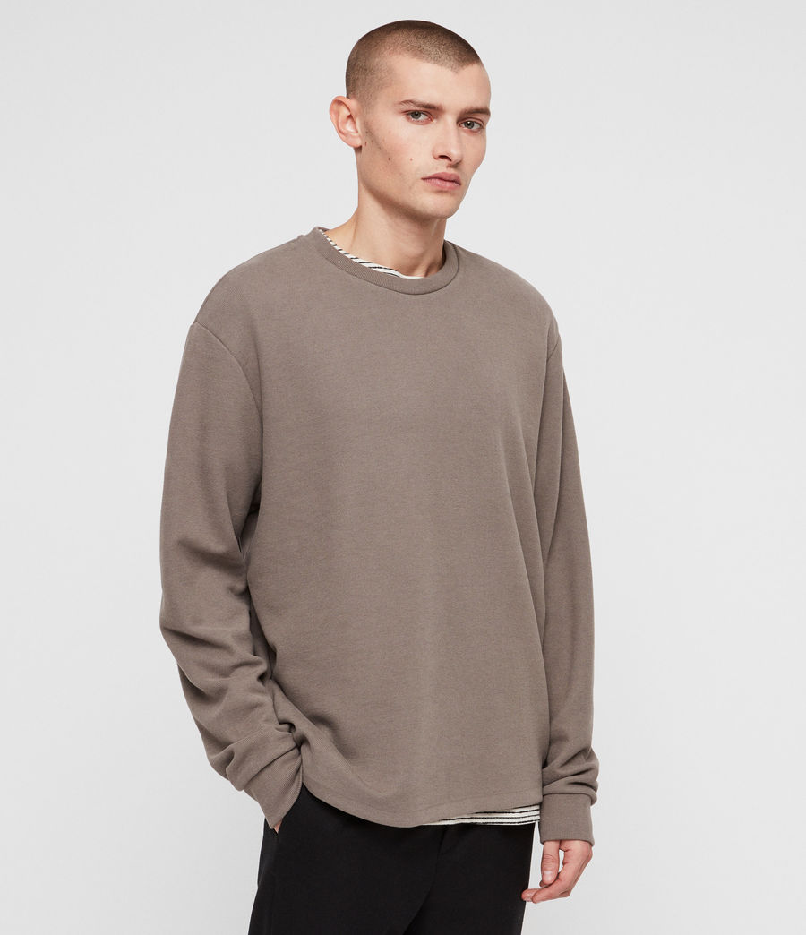 Mens Newis Crew Sweatshirt (core_grey) - Image 4