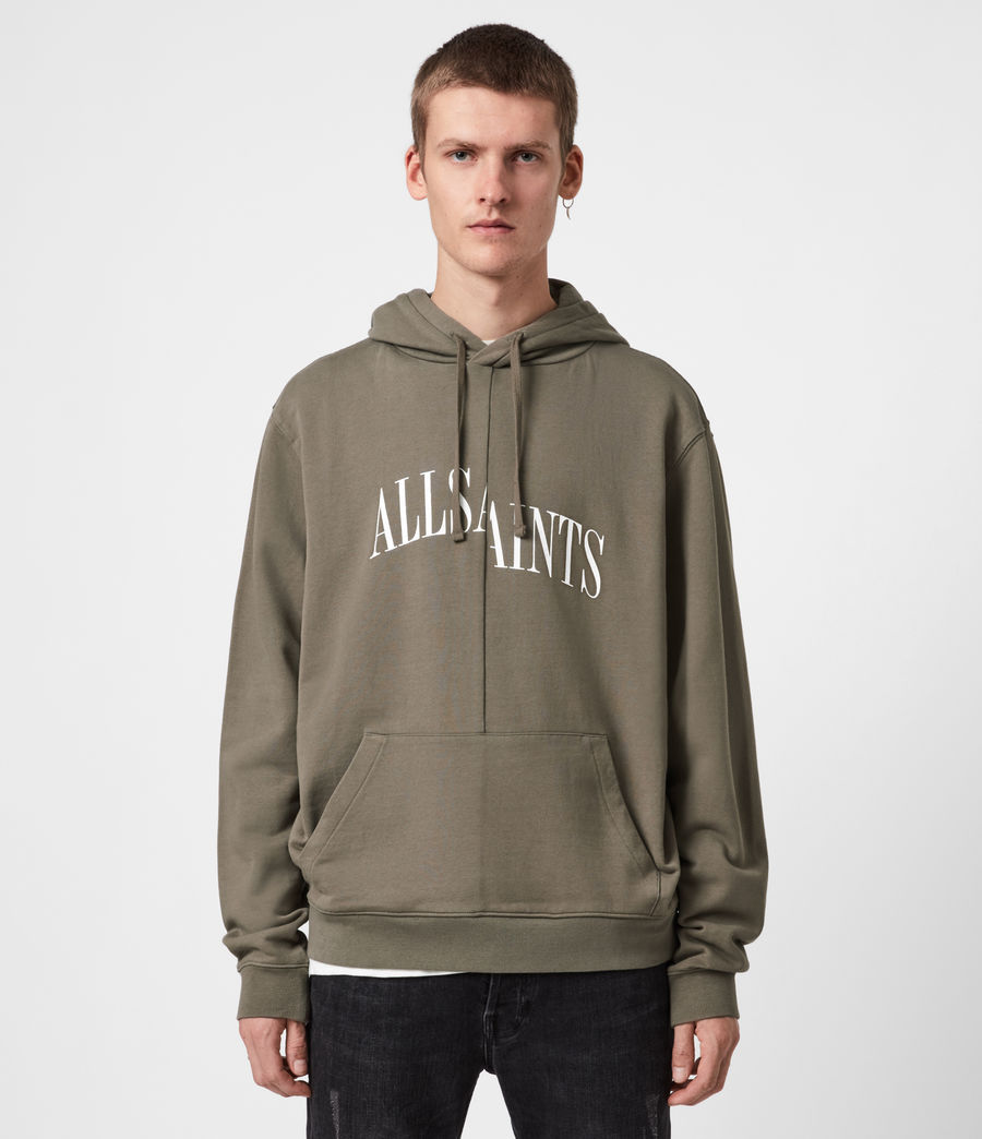 Men's Dropout Pullover Hoodie (washed_khaki_brown) - Image 1