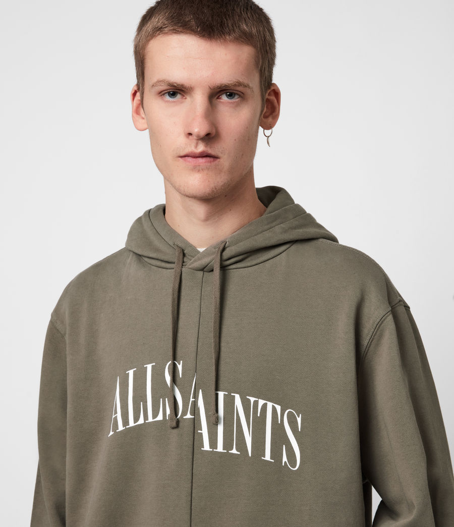 Men's Dropout Pullover Hoodie (washed_khaki_brown) - Image 4