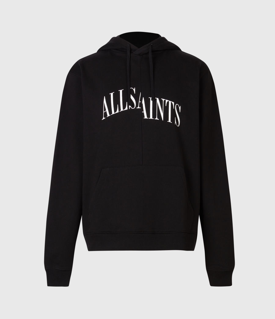 Mens Dropout Pullover Hoodie (jet_black) - Image 3