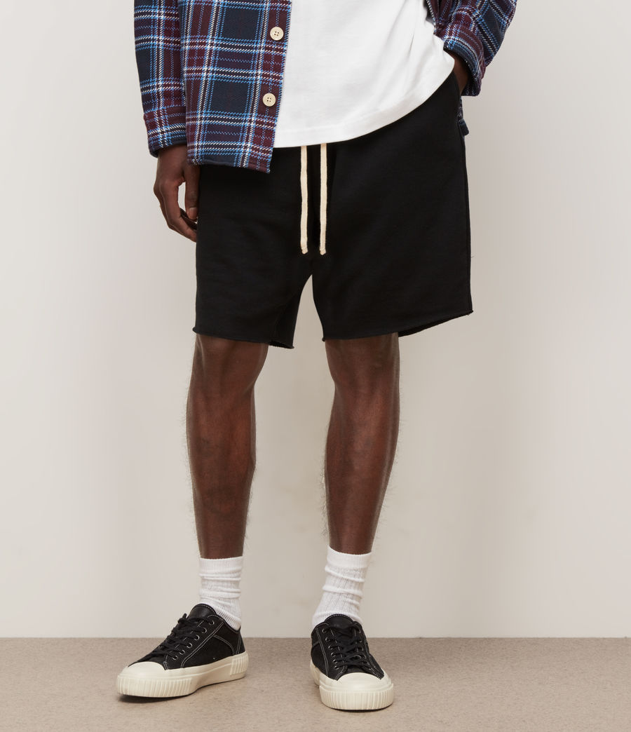 Mens Helix Sweat Shorts (jet_black) - Image 2