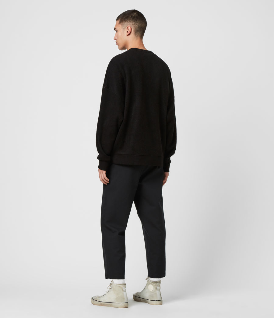 Mens Warren Crew Sweatshirt (black_marl) - Image 5