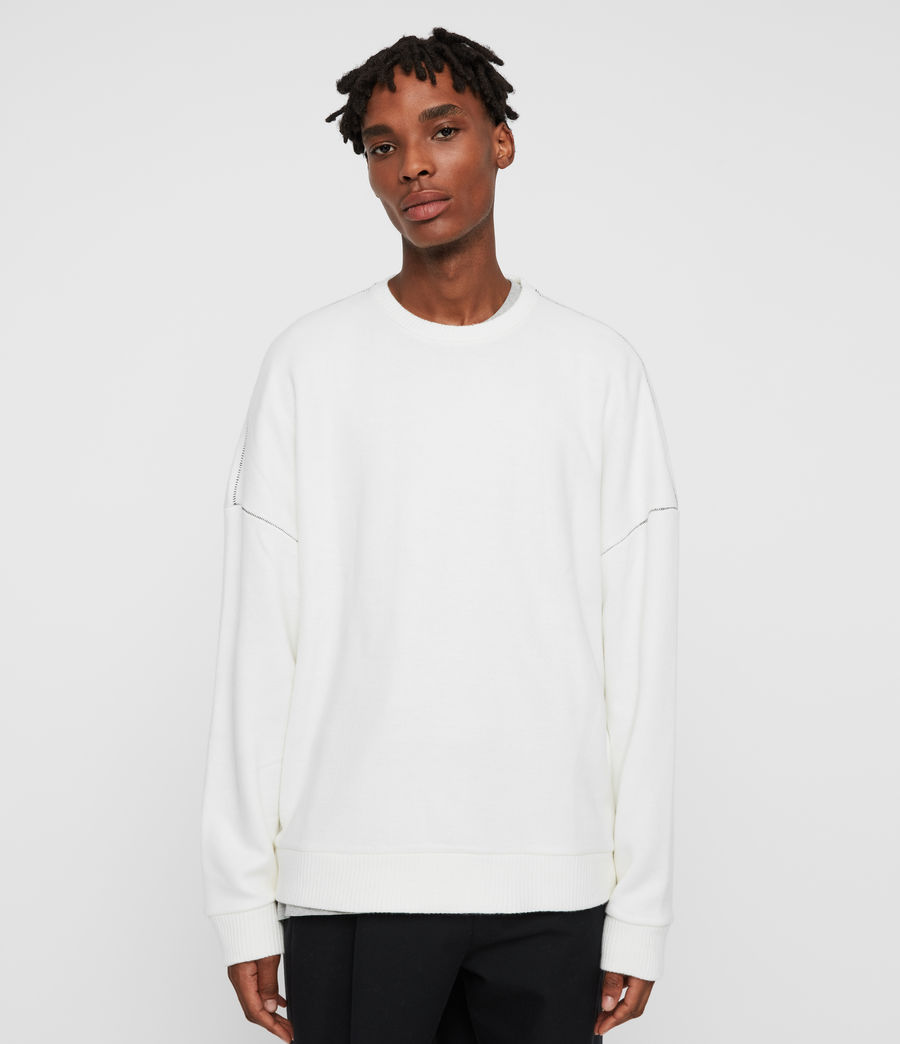 Men's Warren Crew Sweatshirt (ecru_white) - Image 1