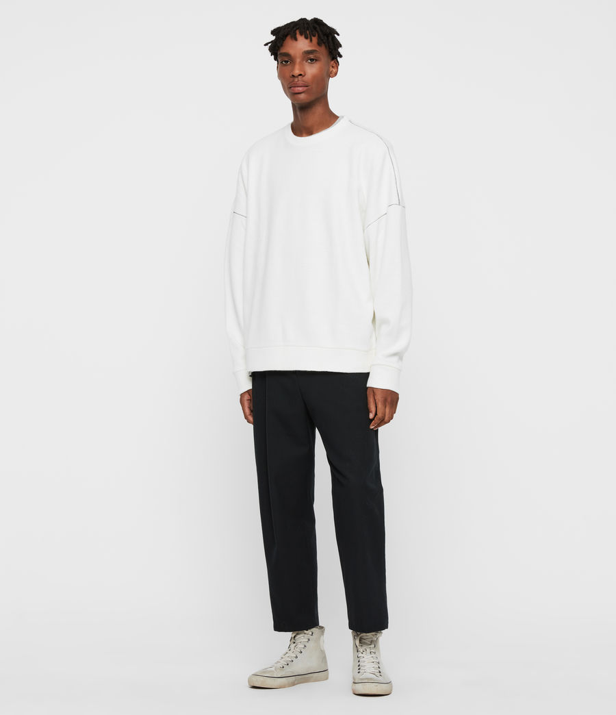 Men's Warren Crew Sweatshirt (ecru_white) - Image 3